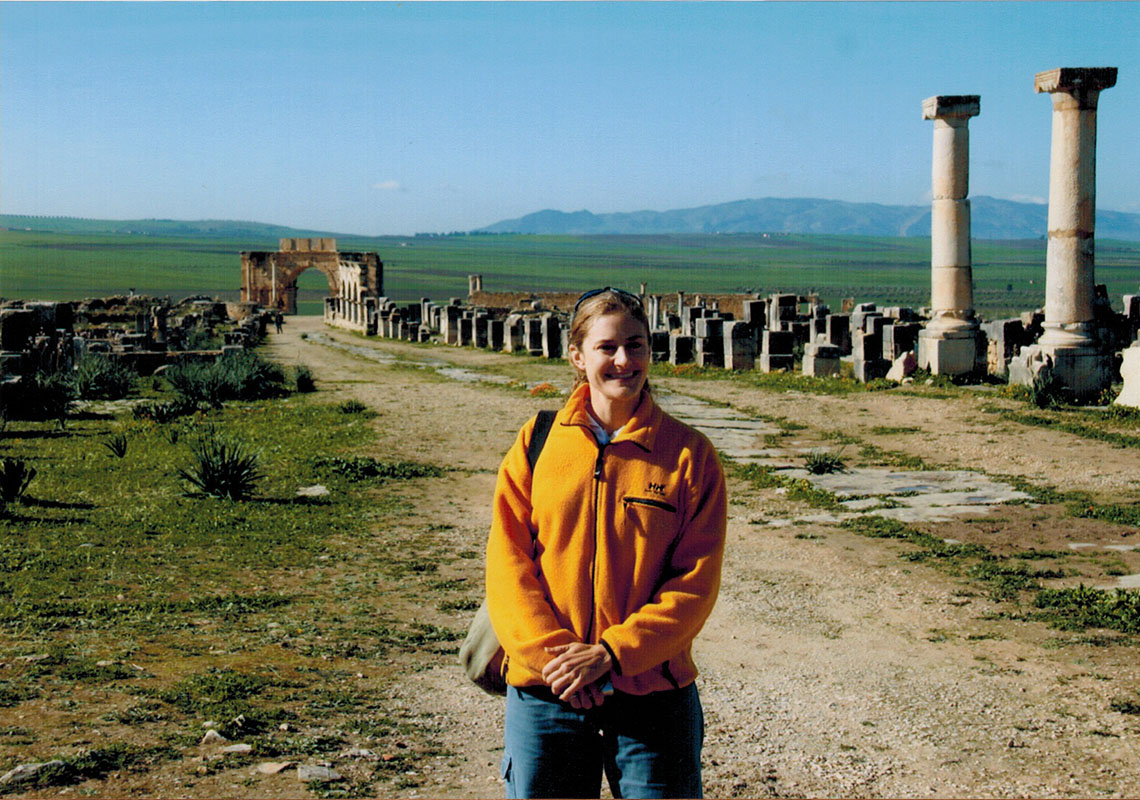 Christi at Volubilis in Morocco