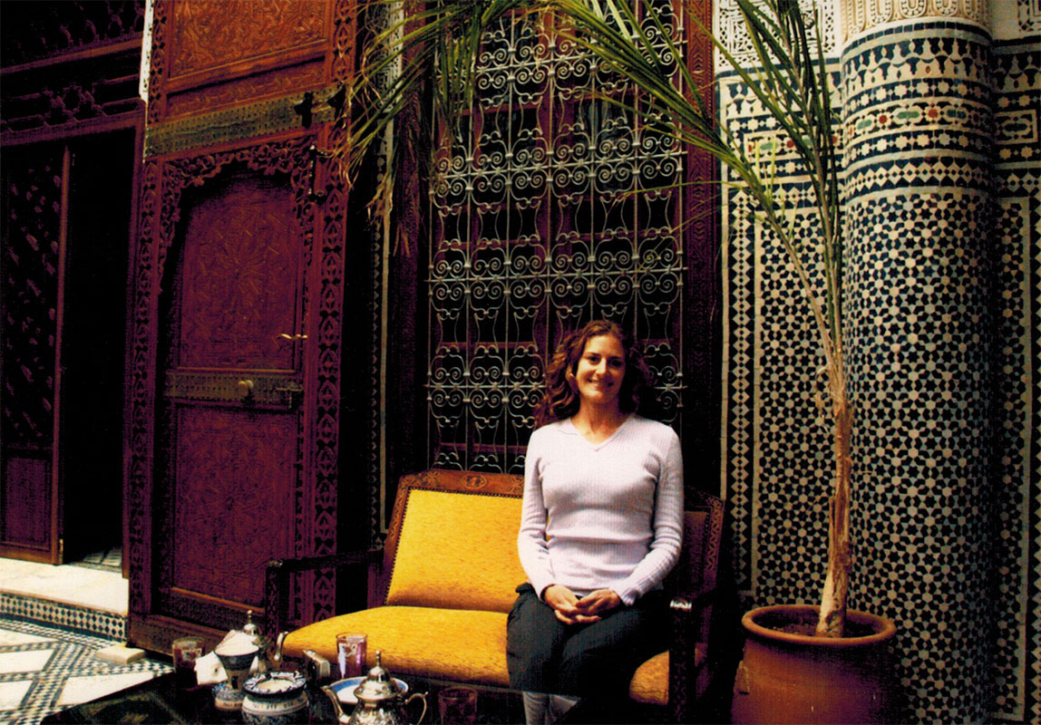 Christi at the Dar Al Andalous riad in Fez, Morocco