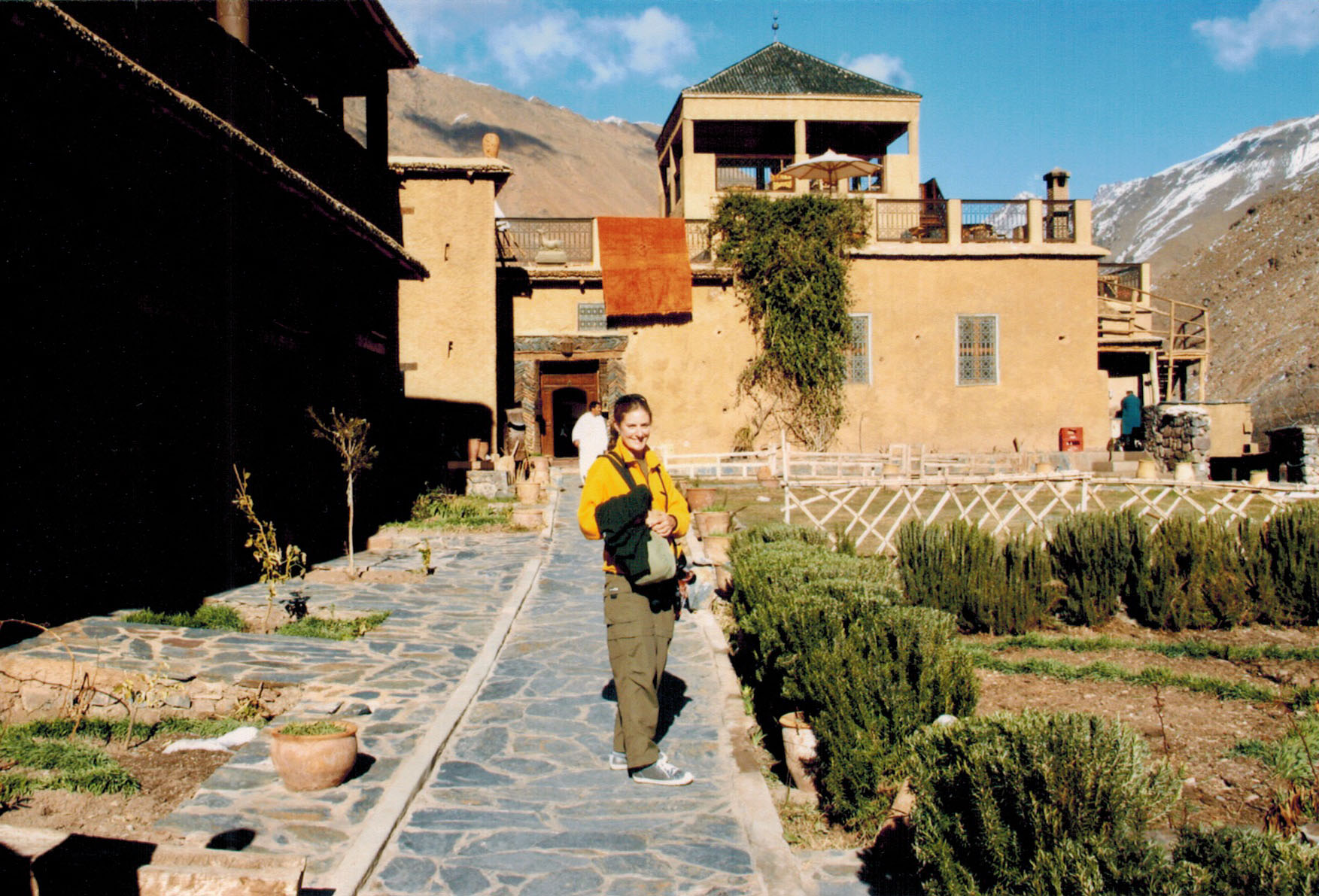 Christi at the Kasbah du Toubkal in Imlil, Morocco