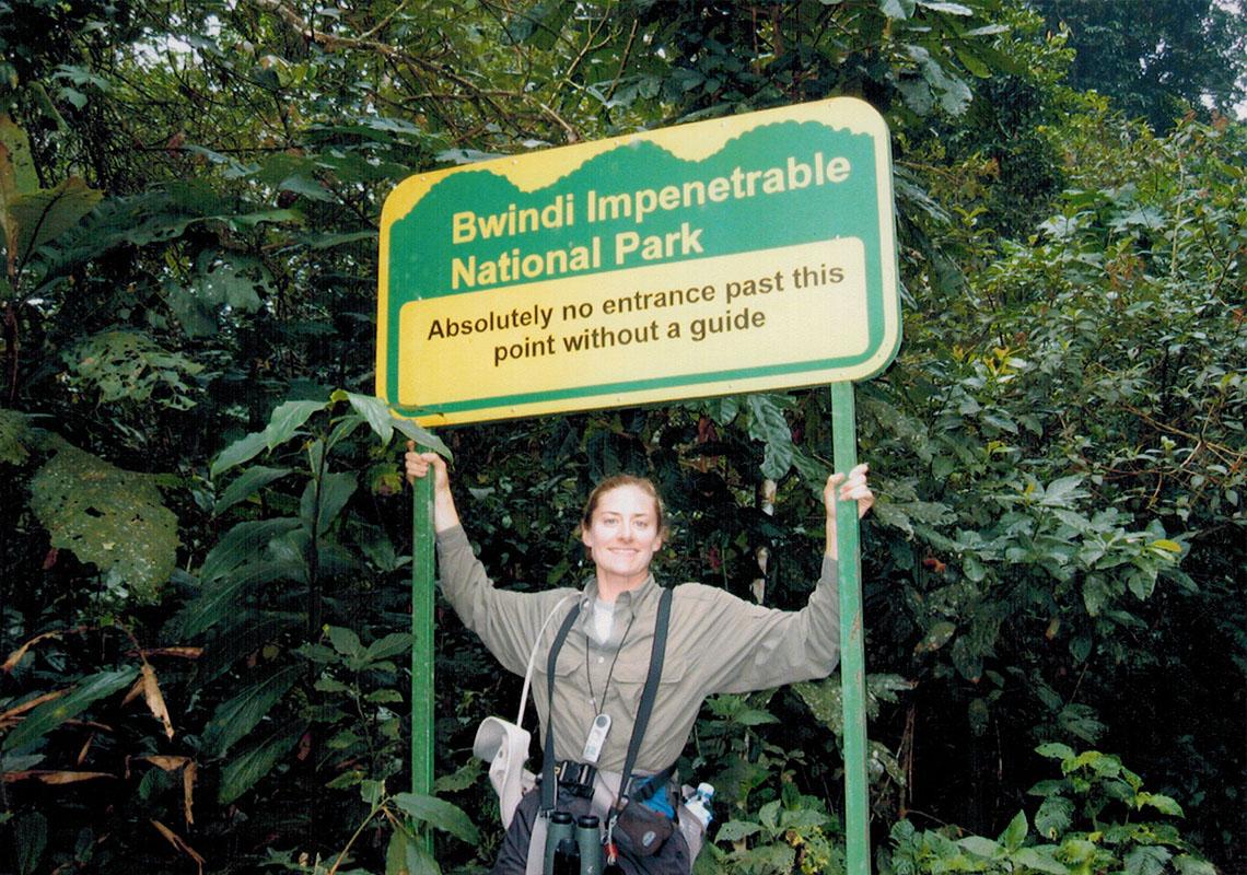 Christi in Uganda's Bwindi Impenetrable National Park