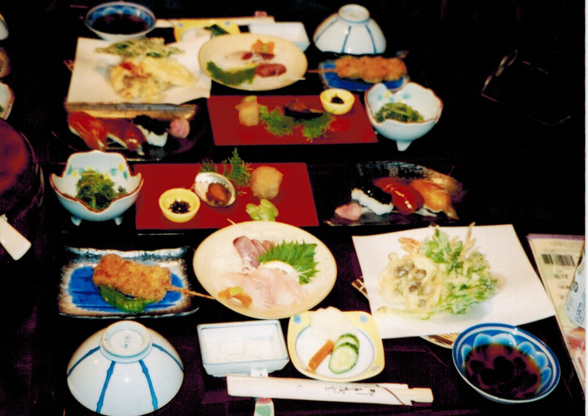 Kaiseki ryori set meal in Japan