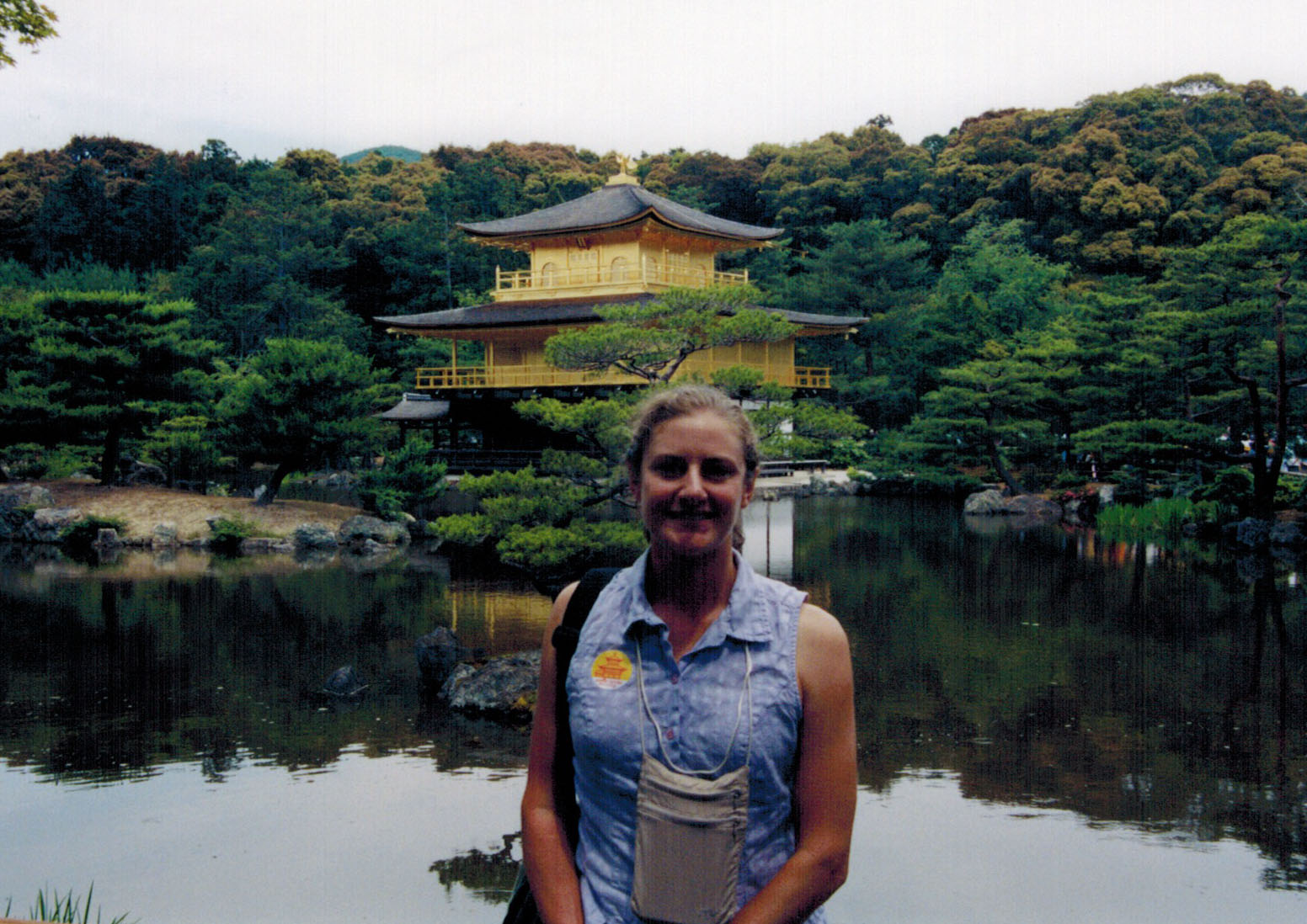Christi at Kyoto's Golden Pavilion