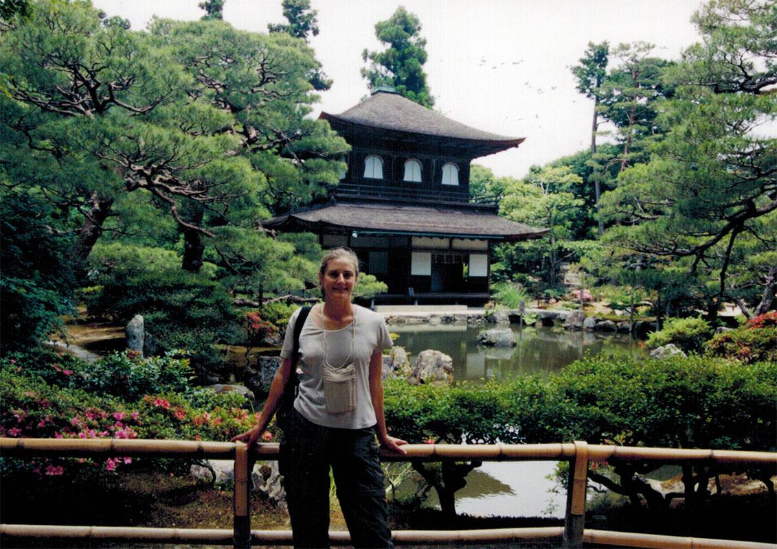 Christi in a Kyoto garden
