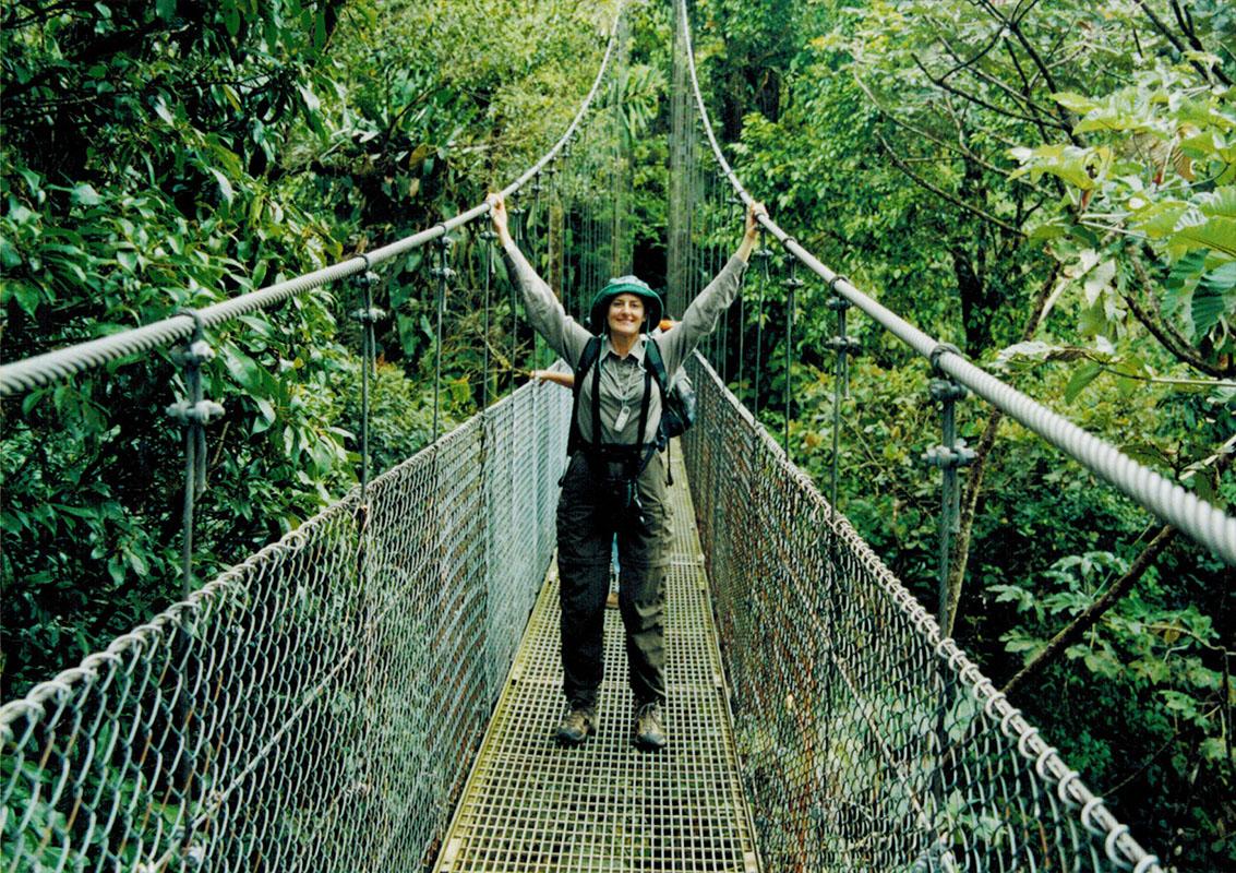 Christi at Monteverde Sky Walk in Costa Rica