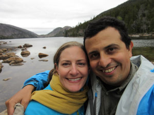 Christi & Hector in Acadia National Park