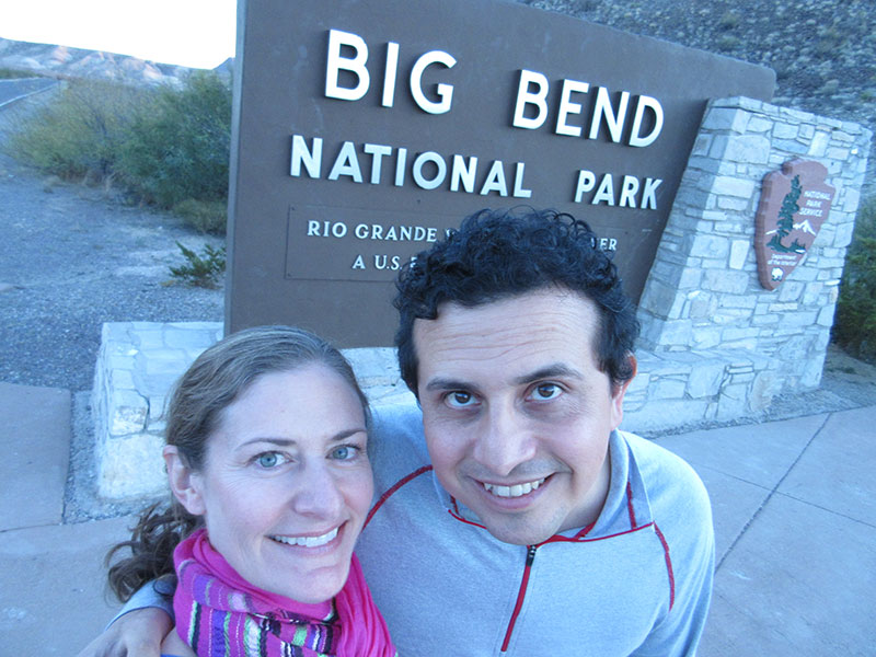 Christi & Hector at Big Bend National Park