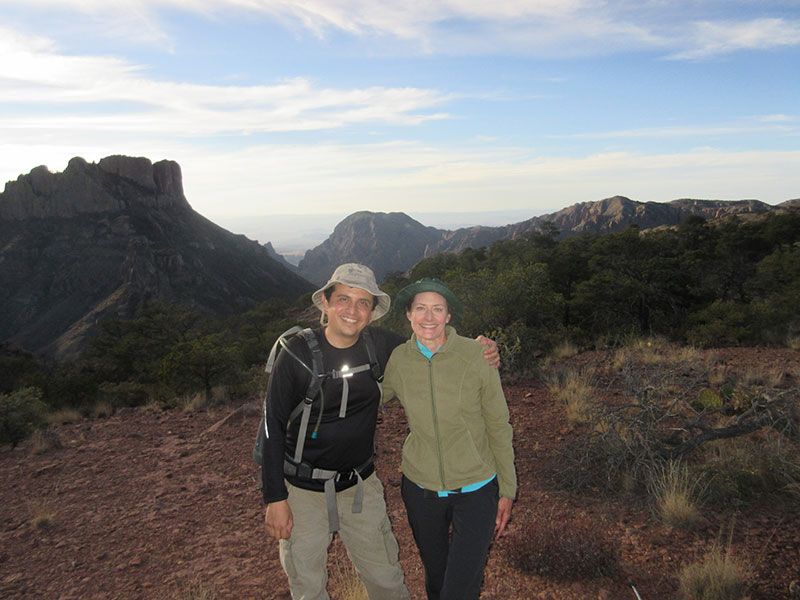 Christi & Hector on the Lost Mine Trail in Big Bend NP
