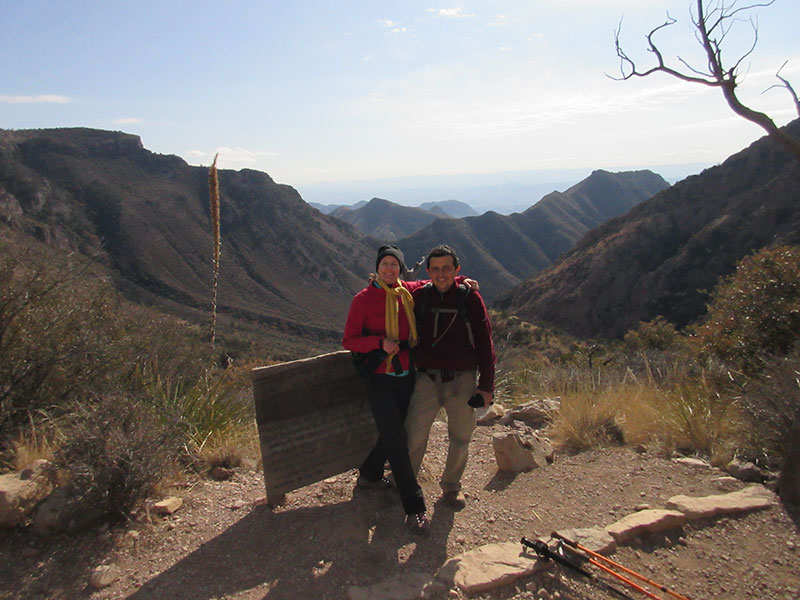 Christi & Hector on the Colima Trail in Big Bend NP