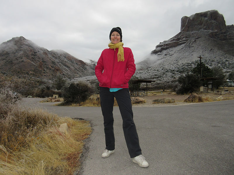 Christi at Chisos Basin Campground in Big Bend