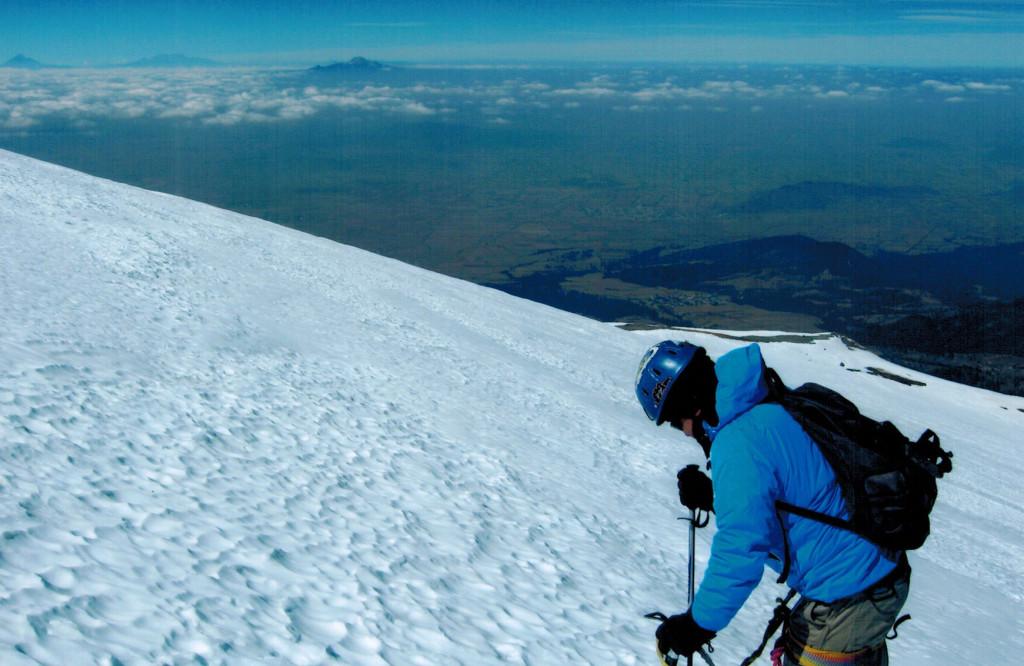 Hector on Pico de Orizaba's glacier