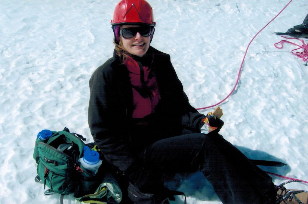 Christi on Pico de Orizaba's glacier