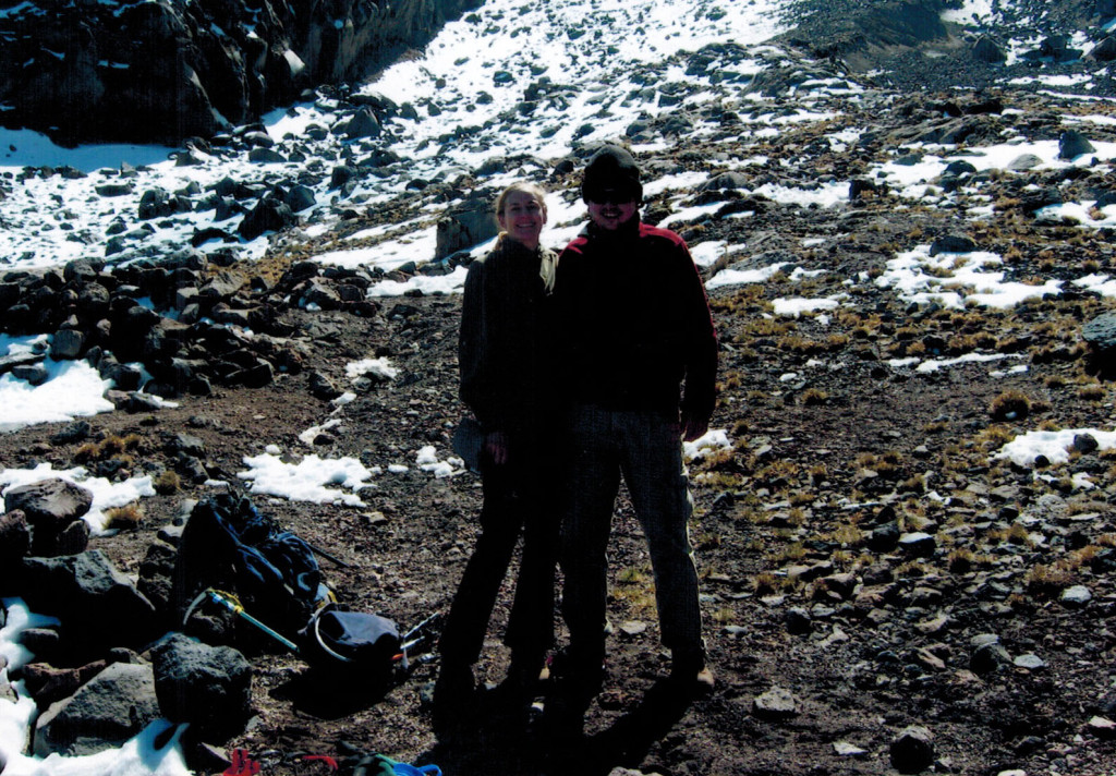 Christi and Hector on the Pico de Orizaba trail