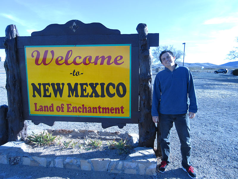 Hector being welcomed to New Mexico