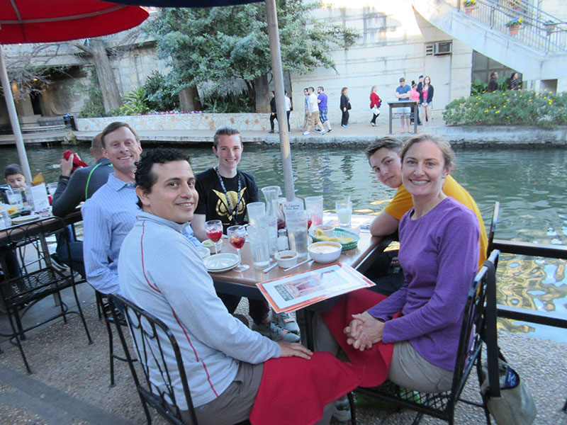 Matt, Hector, Tyler, Hunter and Christi at the River Walk