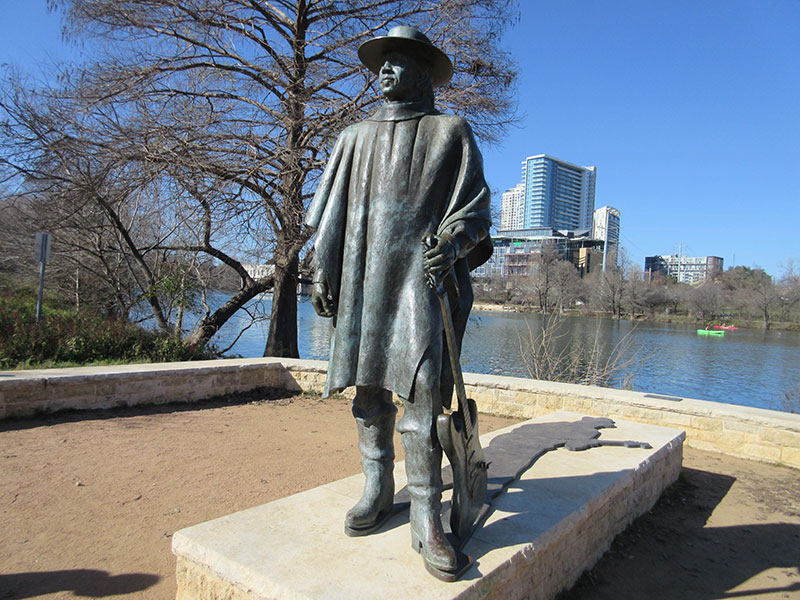 Stevie Ray Vaughan statue at Austin's Zilker Park