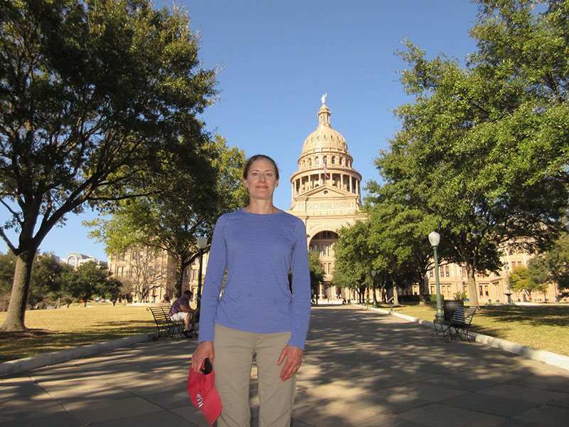 Christi at the Capitol Building in Austin
