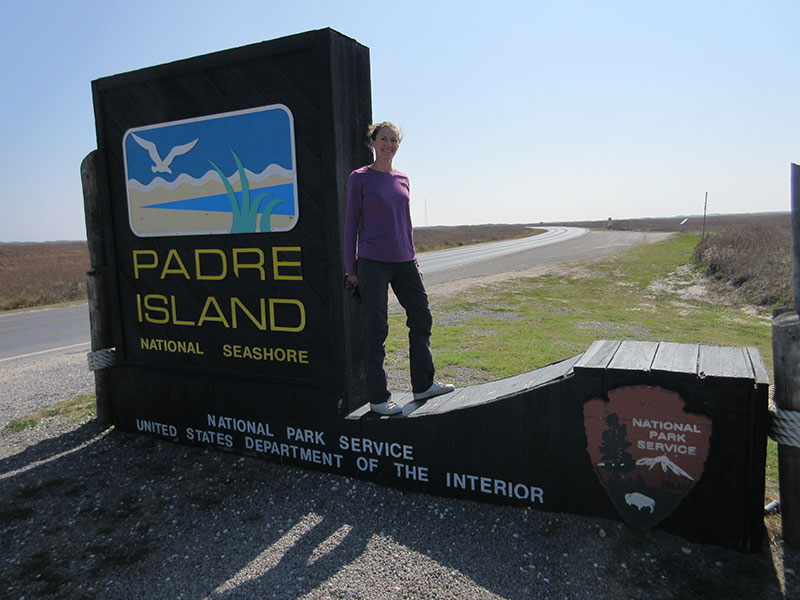 Christi at Padre Island National Seashore