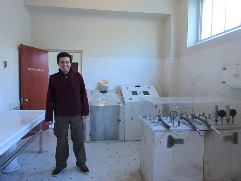 Hector at Hot Springs' Fordyce Bathhouse