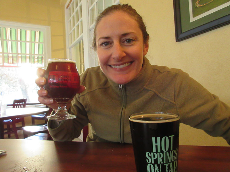 Christi at Superior Bathhouse Brewery in Hot Springs Arkansas