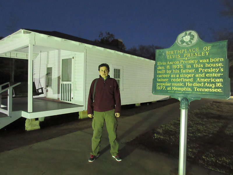 Hector at Elvis Birthplace in Tupelo