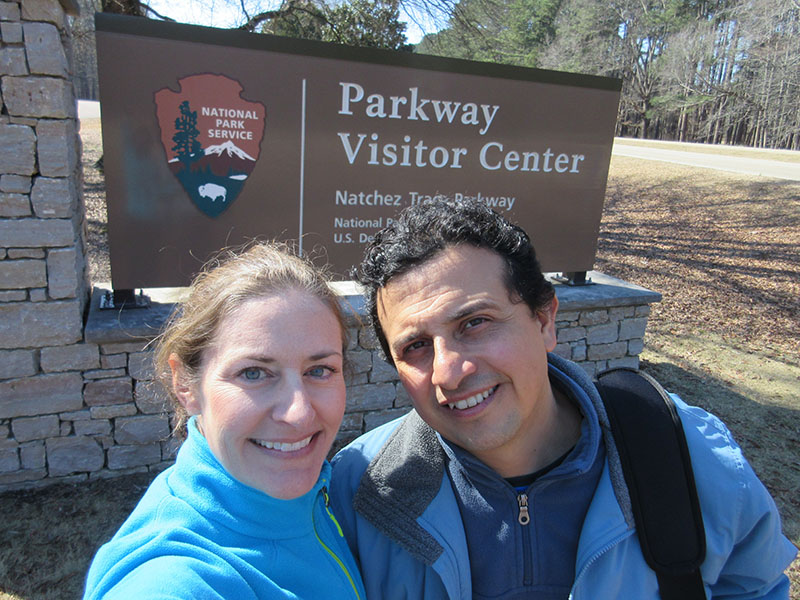 Christi & Hector on Natchez Trace