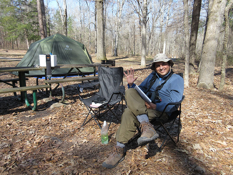 Hector at Rocky Springs Campground on Natchez Trace