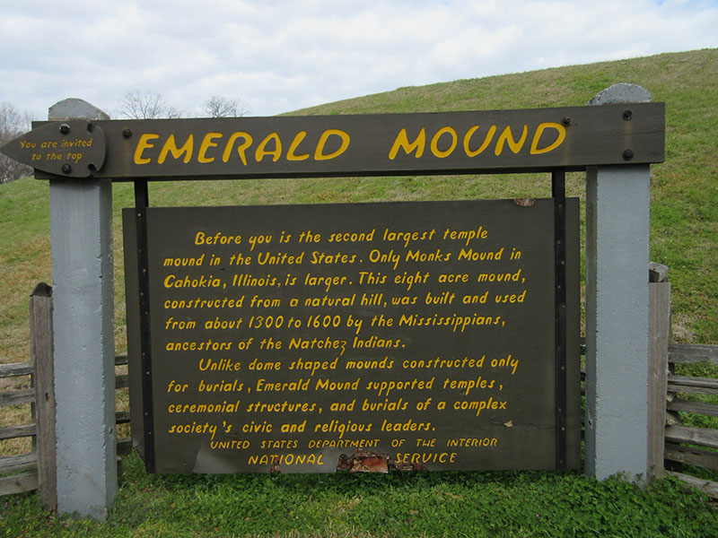 Emerald Mound on Natchez Trace Parkway