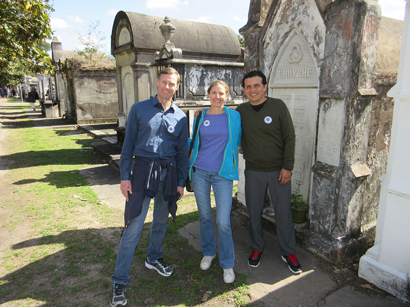 Matt, Christi & Hector at Lafeyette Cemetery