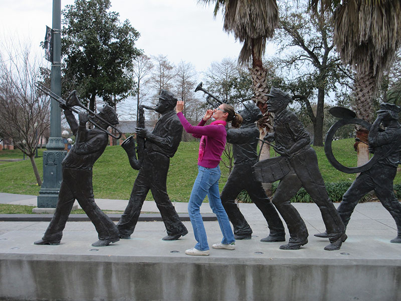 Christi in New Orleans' Armstrong Park