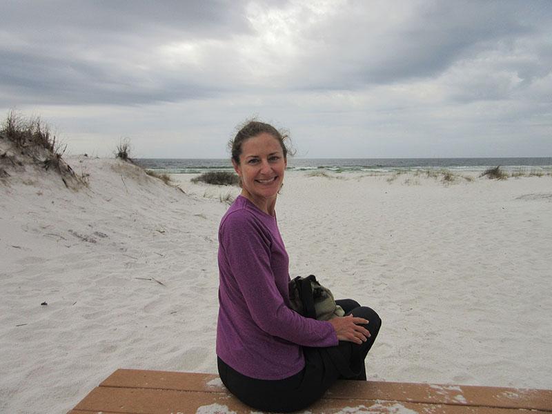 Christi at Gulf Islands National Seashore