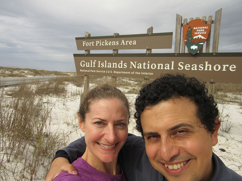 Christi & Hector at Gulf Islands National Seashore