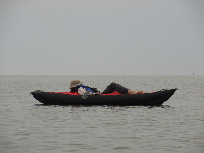 Christi kayaking in Everglades National Park