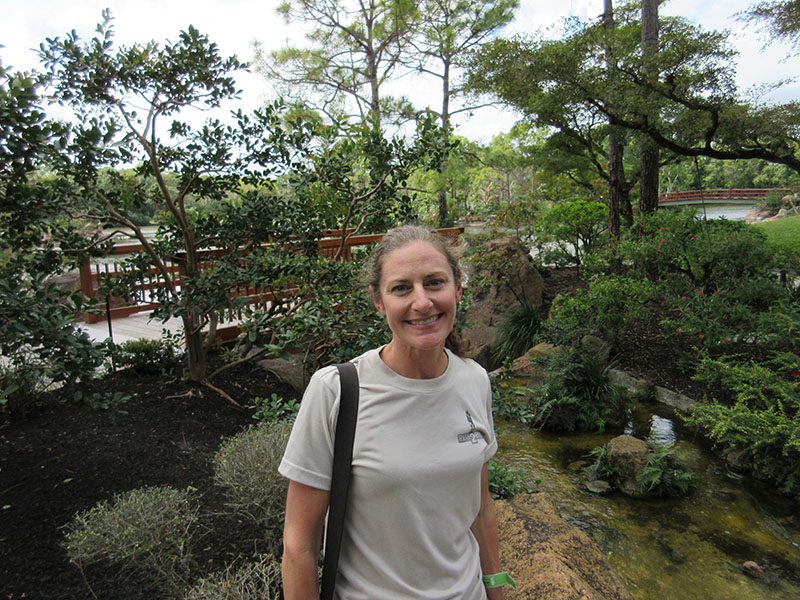 Christi at Morikami Museum