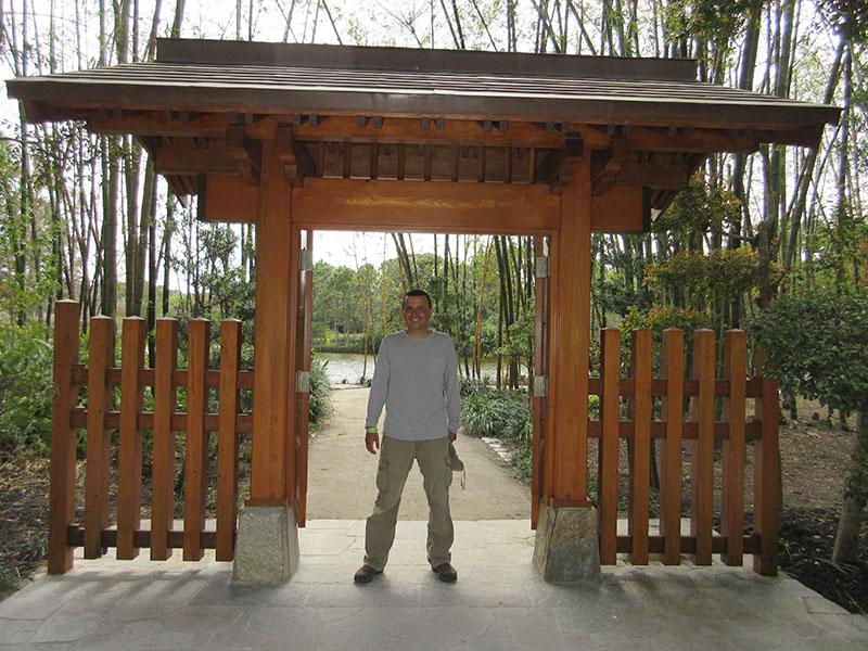 Hector at Morikami Museum
