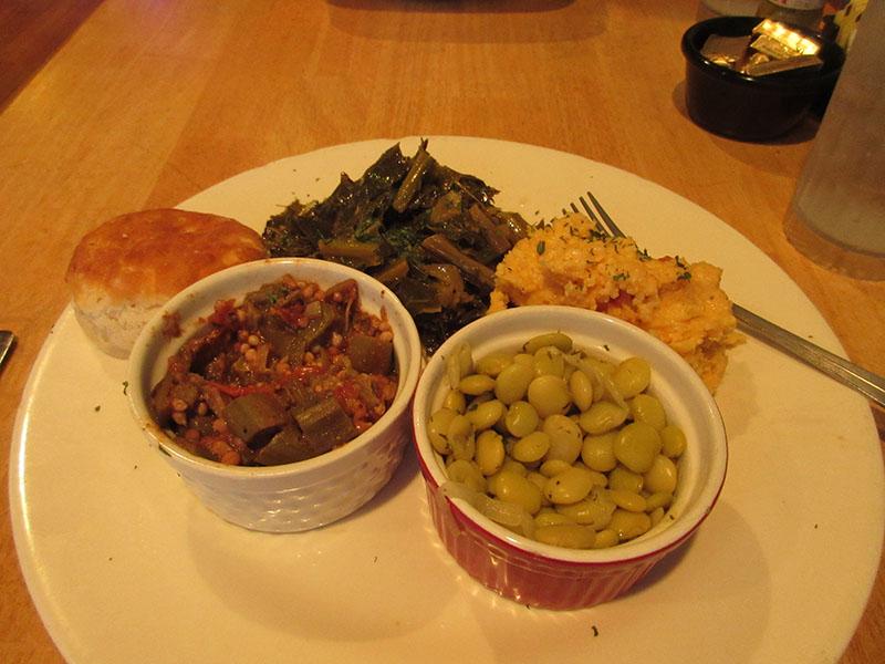 Dinner at Sweet Potatoes Kitchen in Savannah GA