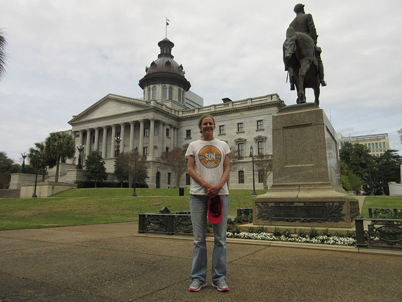 Christi at the state capitol in Columbia, South Carolina