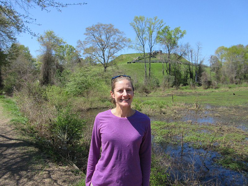Christi at Ocmulgee National Monument