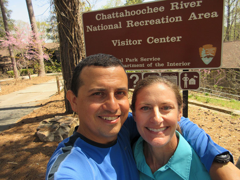 Hector & Christi at Chattahoochee River National Recreation Area