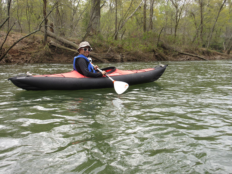 Hector kayaking the Chattahoochee River