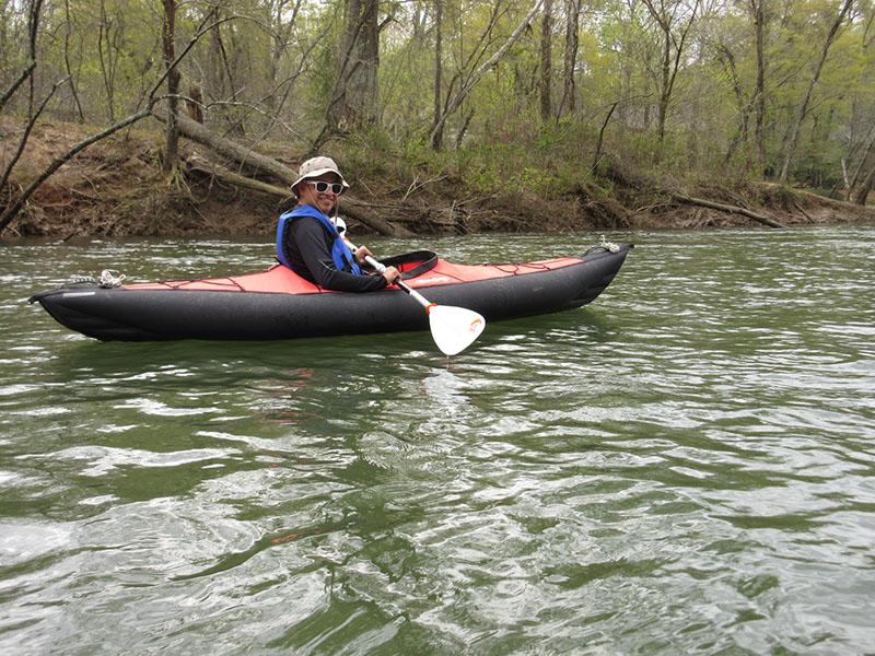 Hector kayaking the Chattahoochee River