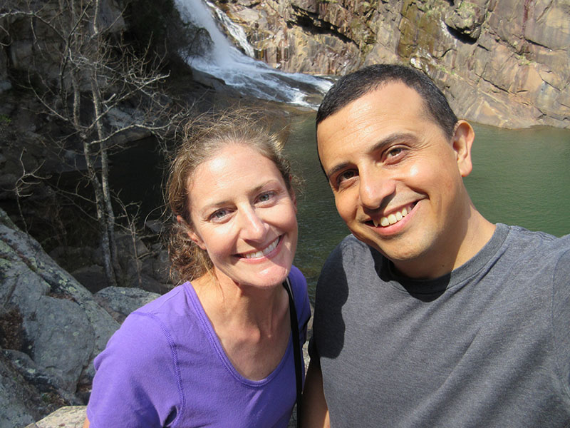 Christi & Hector at Tallulah Gorge's Hurricane Falls