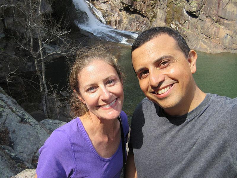 Christi & Hector at Tallulah Gorge's Hurricane Falls