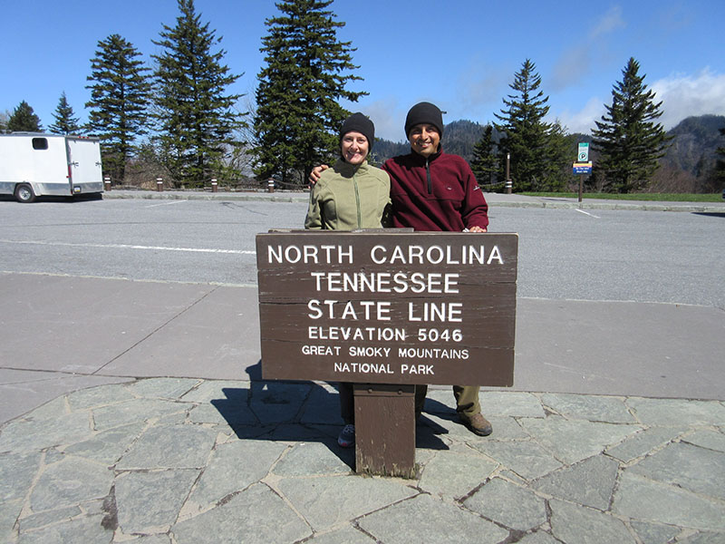 Christi & Hector at Great Smoky Mountains National Park