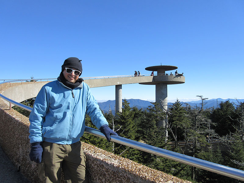 Hector at Clingman's Dome in Great Smoky Mountains National Park
