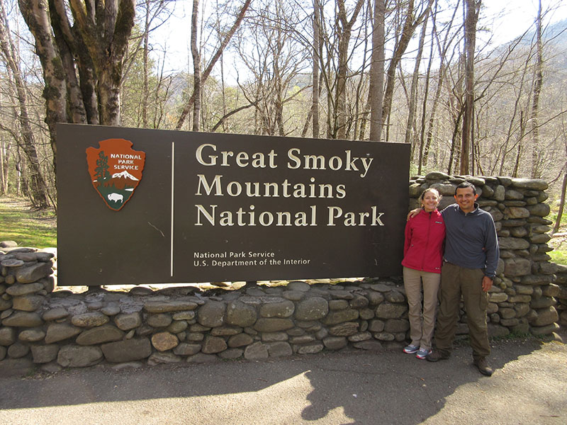 Christi & Hector at Great Smoky Mountain National Park
