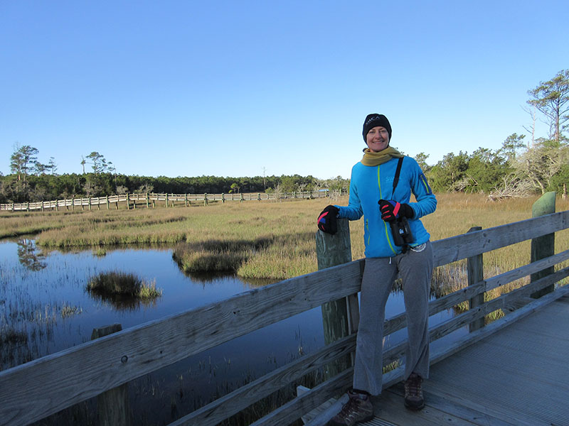 Christi at Cedar Point Tidelands Trail in North Carolina