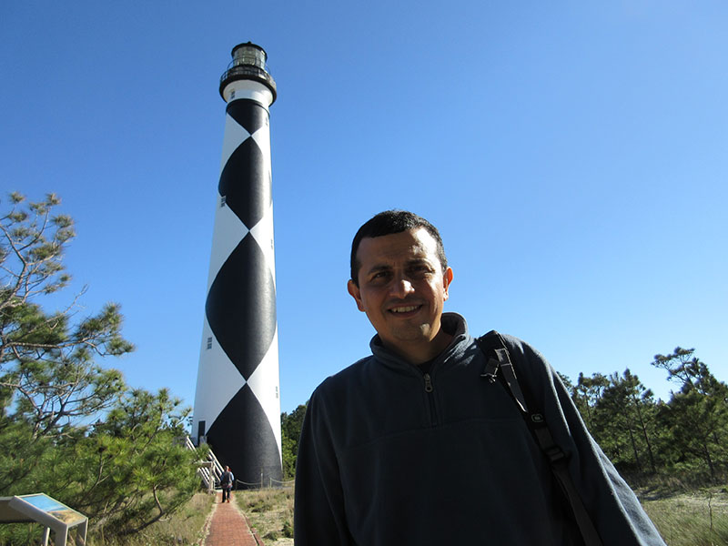 Hector at Cape Lookout Lighthouse