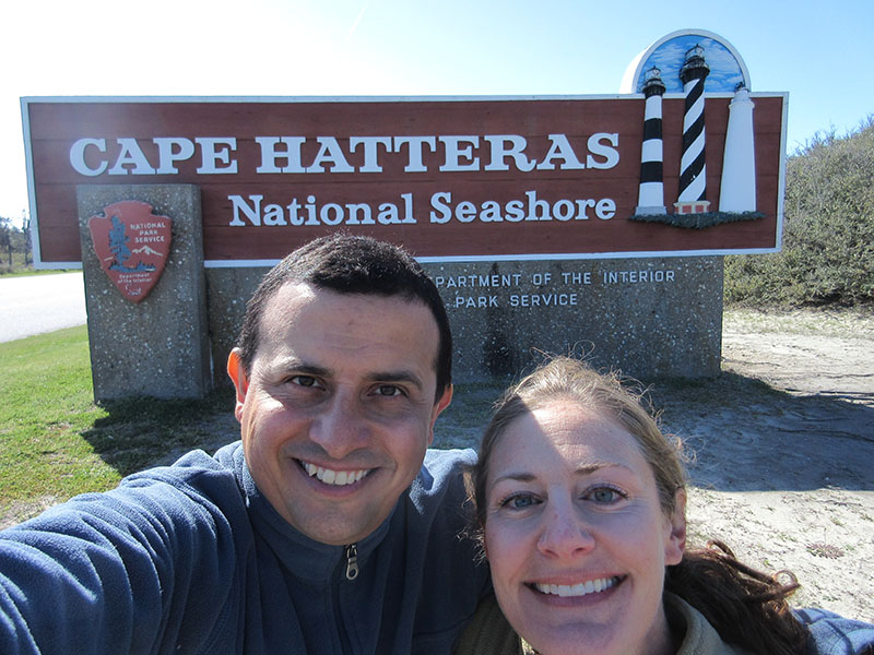 Christi & Hector at Cape Hatteras National Seashore