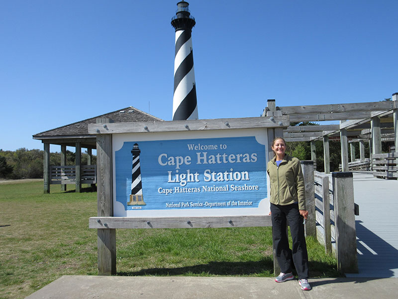 Christi at Cape Hatteras Lighthouse