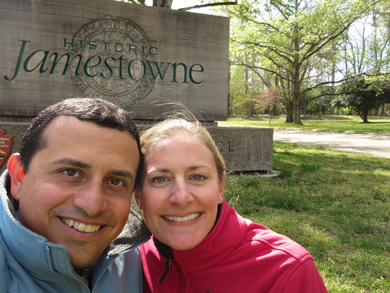 Hector & Christi at Historic Jamestowne